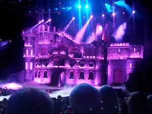 Lady Gaga's purple castle of doom
