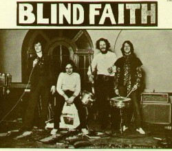 Originally released with a controversial cover featuring a topless pubescent girl, the Blind Faith album was eventually reissued with this photo of the band on the cover.