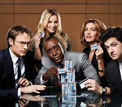 Pictured: Don Cheadle, Kristen Bell, Dawn Olivieri and two plastic ferns pretending to be actors.