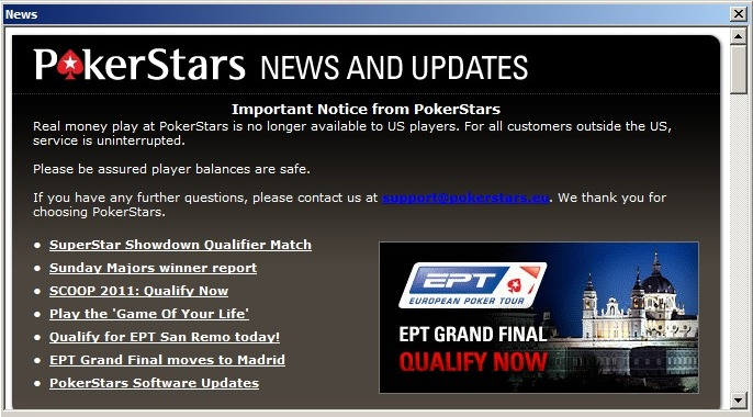 pokerstars login