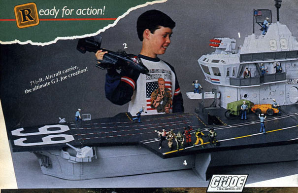 U.S.S. Flagg Aircraft Carrier (G.I. Joe), 1985 Sears Wish Book