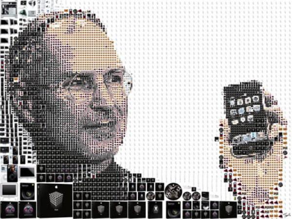 Steve Jobs pixels