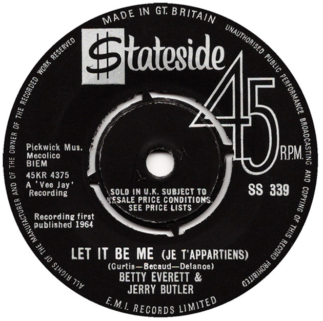 Jerry Butler &amp; Betty Everett, &quot;Let It Be Me&quot;