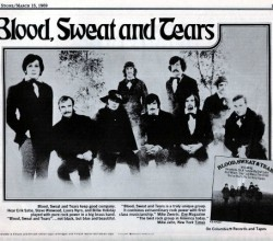 Print ad for the second and most famous BS&T album, 1969