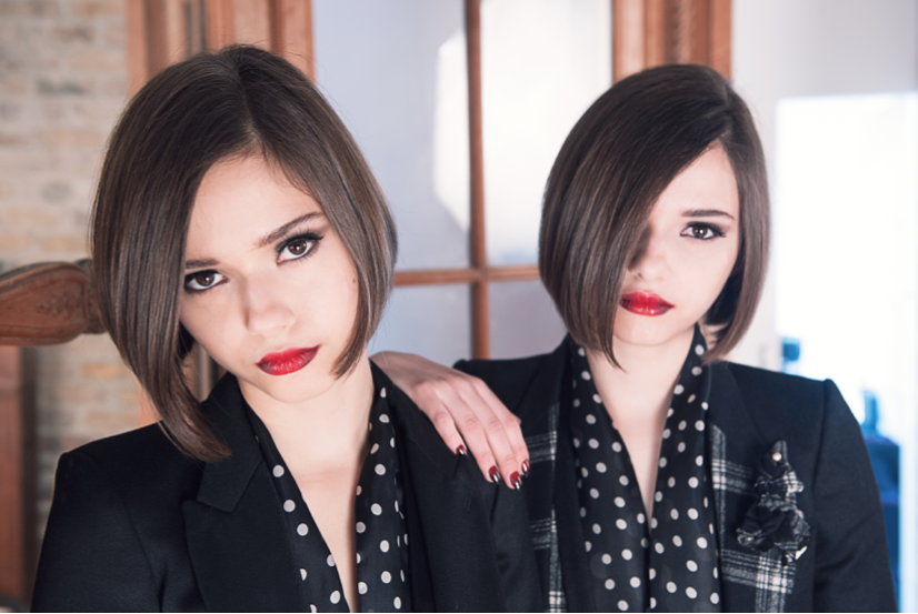 Bloom Twins Blue Press Shot
