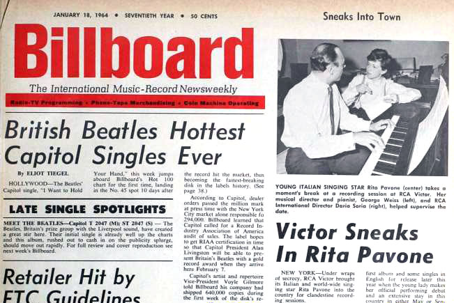 Billboard magazine - January 18, 1964