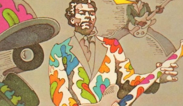 "Detail from the cover of ""The London Chuck Berry Sessions,"" 1972"