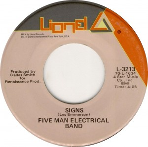 Five Man Electrical Band, &quot;Signs&quot;