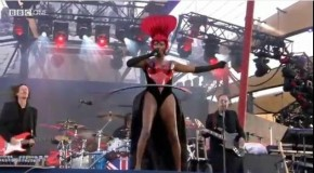 Watch Grace Jones Hula Hoop Her Way Through the Queen's Diamond Jubilee Concert