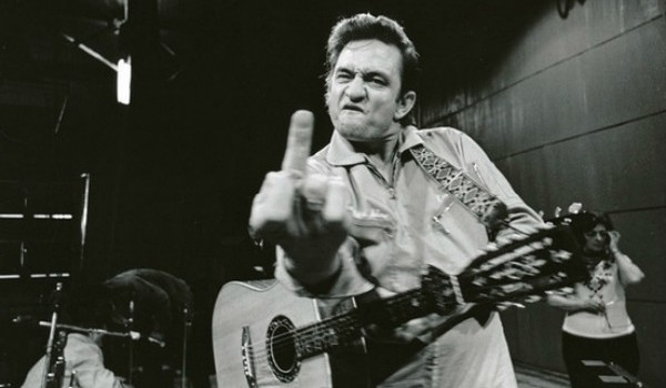 "Photographer Jim Marshall called this picture, snapped at the soundcheck before Johnny Cash's San Quentin Prison performance in 1969, ""the most ripped-off photo in the history of the world."""
