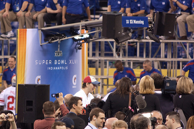 Eli Manning at Media Day