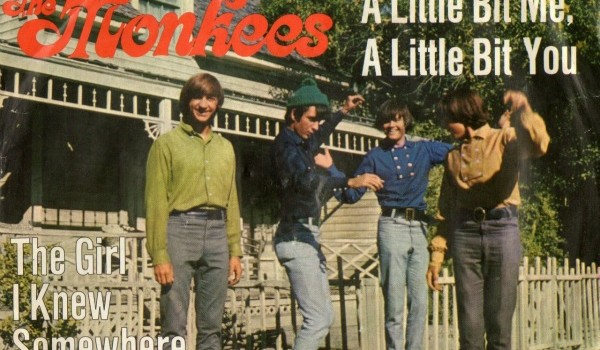 "Cover art from the single ""A Little Bit Me, A Little Bit You,"" released in the spring of 1967"