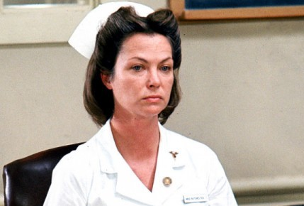 nurse ratched So [nurse ratched] really lets herself go and her painted smile twists, stretches to an open snarl, and she blows up bigger and bigger, big as a tractor, so big i.