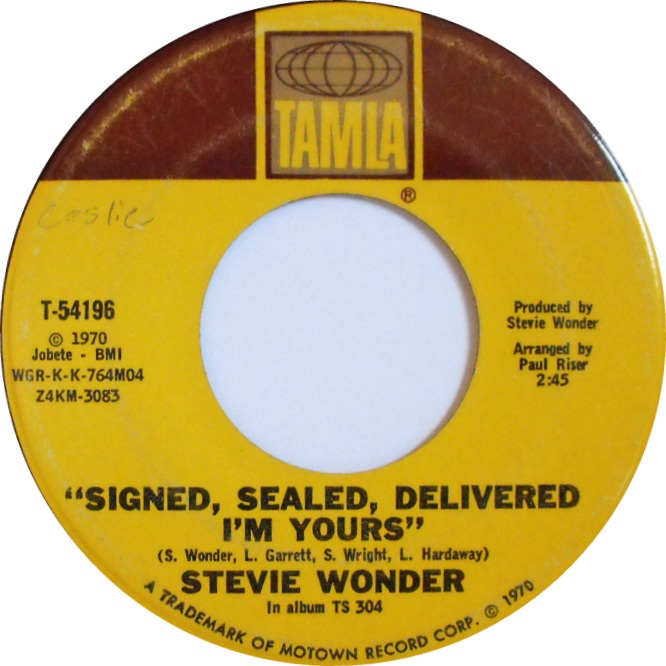Soul Serenade Stevie Wonder Quot Signed Sealed Delivered I