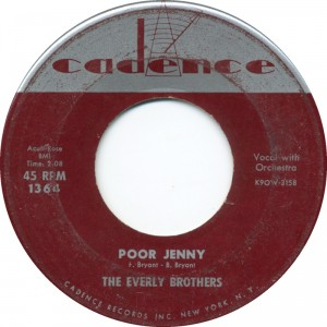 "The Everly Brothers, ""Poor Jenny"""