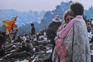 Detail from the cover of the Woodstock soundtrack