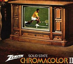 The fabulous 1973 Zenith Chromacolor TV, which adorned many a living room back in the day. (TVHistory.tv)
